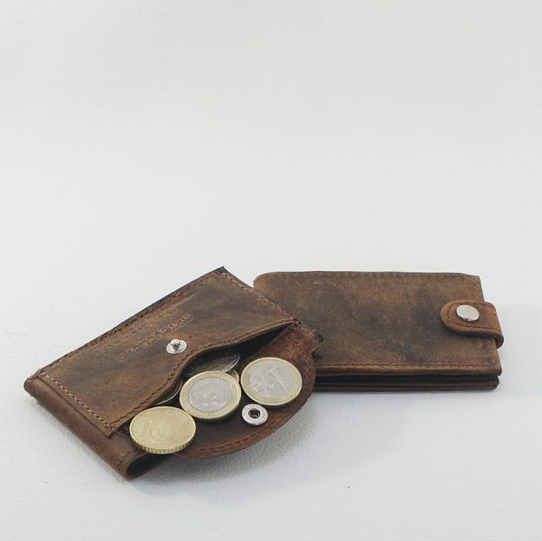mini billetero cuero