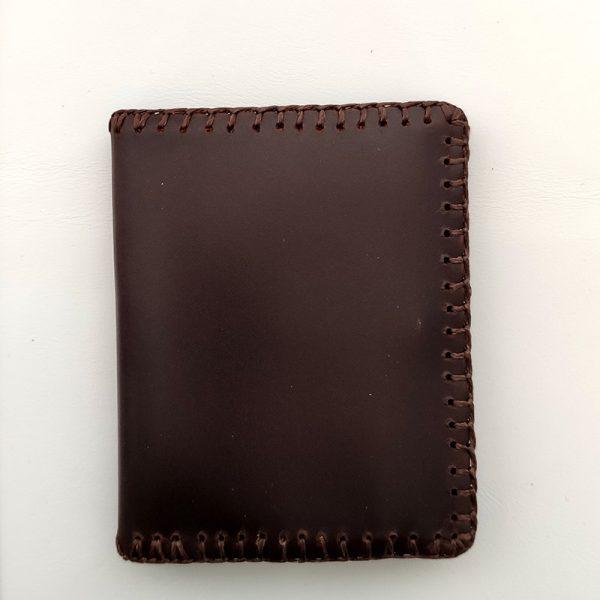 cartera piel marrón