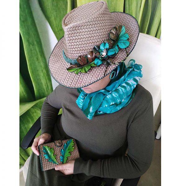 sombrero cuero