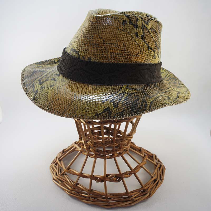 Sombrero de cuero print animal