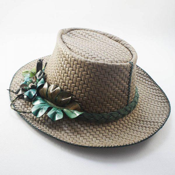 sombrero piel señora