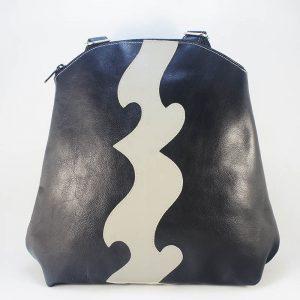 mochila piel negra