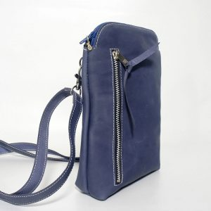 Mini bolso móvil azul