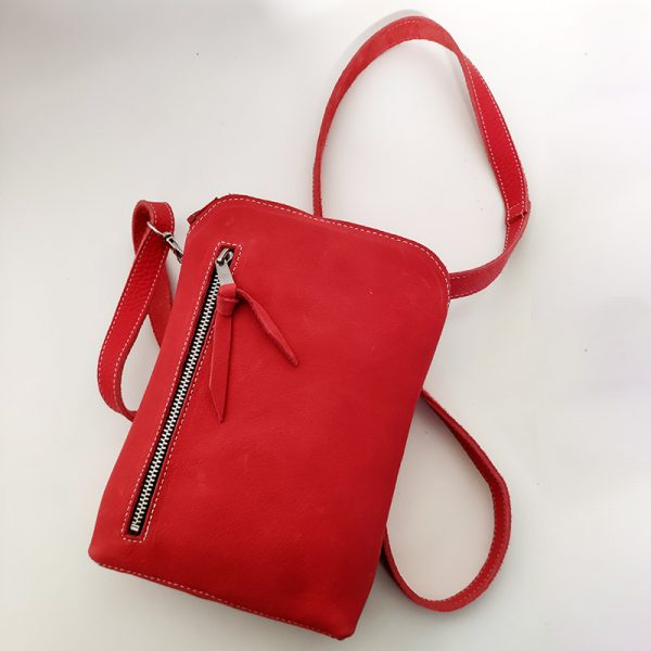 mini bolso rojo